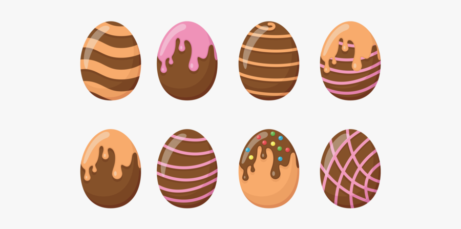 Chocolate Easter Eggs Icons Vector - Chocolate, Transparent Clipart