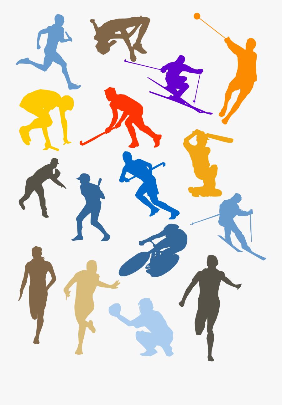Silhouette Sport Disciplines Set - Sports Cliparts, Transparent Clipart