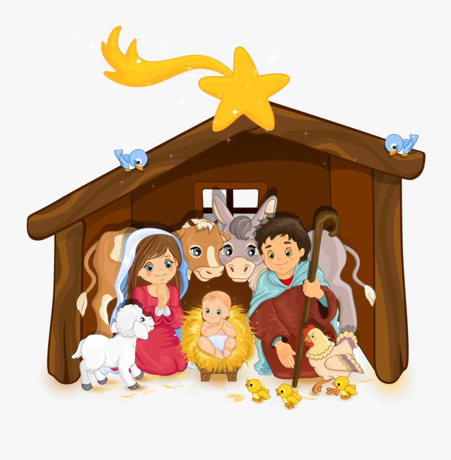 Christmas Nativity Scene Clipart, Transparent Clipart