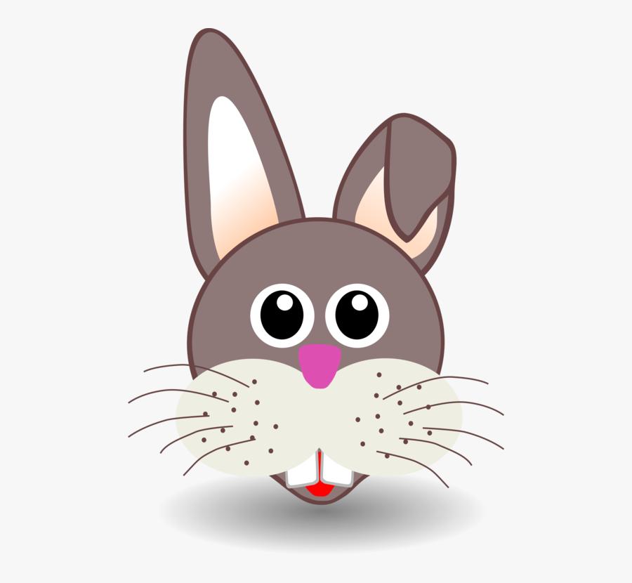 Rabits And Hares,carnivoran,hare - Baby Rabbit Face Cartoon, Transparent Clipart
