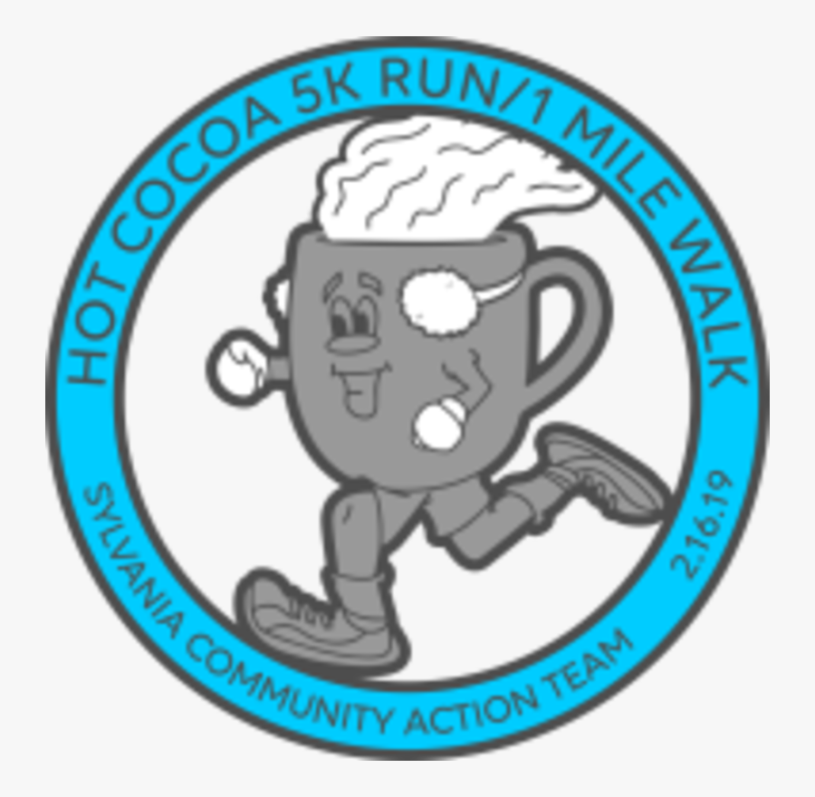 Hot Cocoa 5krun/1mile Walk - Cartoon, Transparent Clipart