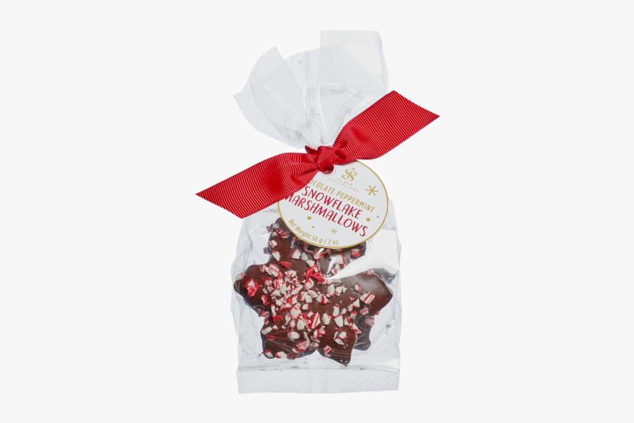 Chocolate Enrobed Snowflake Marshmallow Bag - Mozartkugel, Transparent Clipart