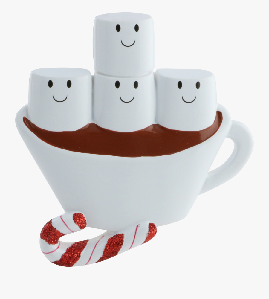 Personalized Marshmallow Family Hot Cocoa Mug Christmas - Stuffed Toy, Transparent Clipart