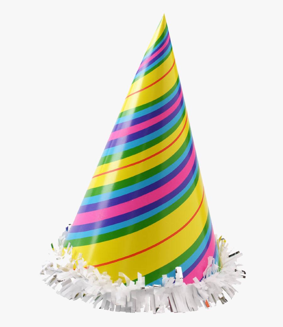 Party Hat Clip Art - Transparent Background Birthday Cap Png, Transparent Clipart