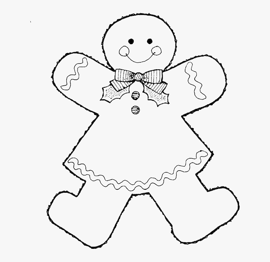 Style Gingerbread Boy Coloring Pages - Gingerbread Girl Coloring Page, Transparent Clipart