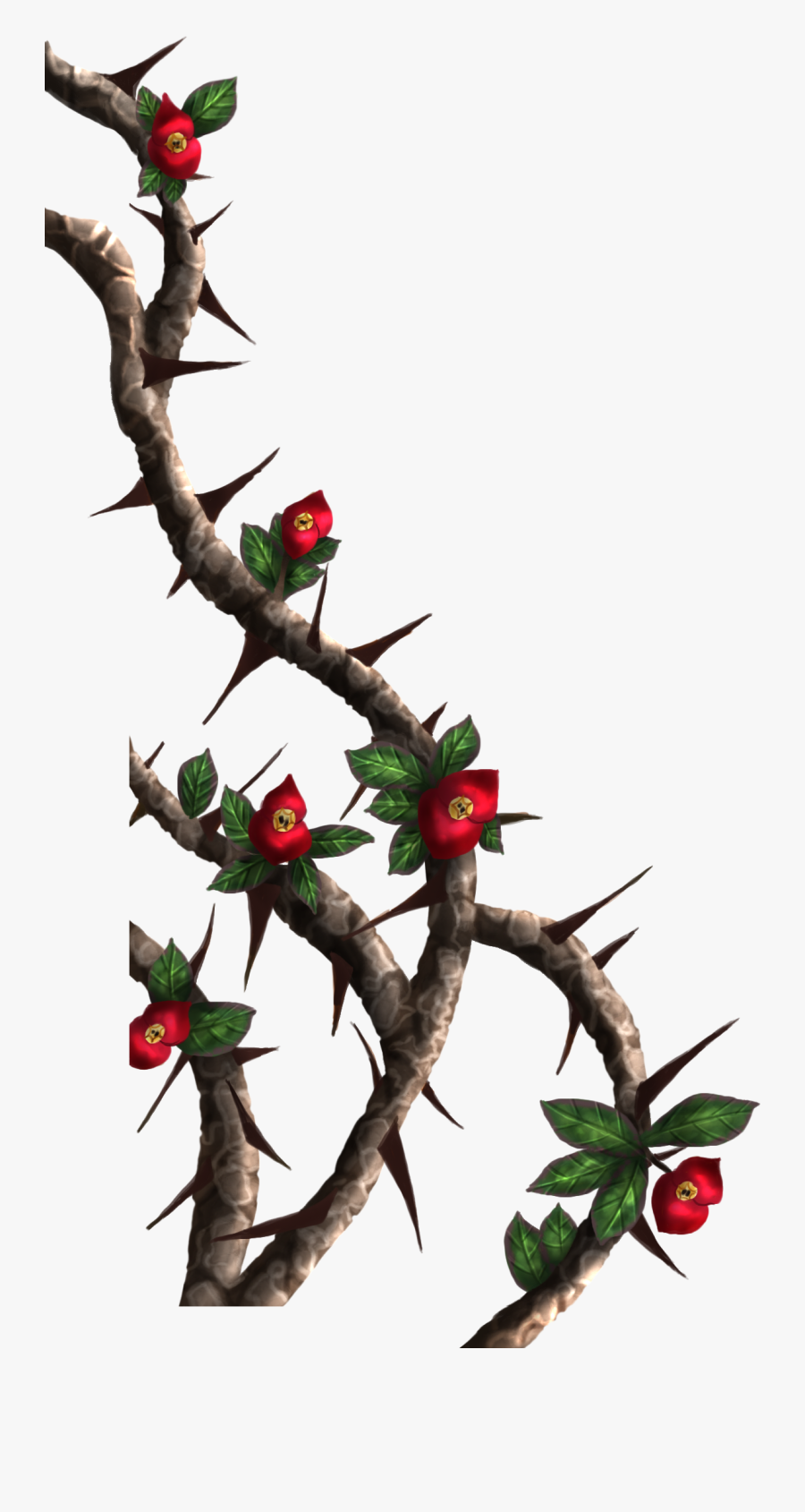 Nails And Crown Of Thorns Clipart Picture Library Library - Rose Thorns Png, Transparent Clipart