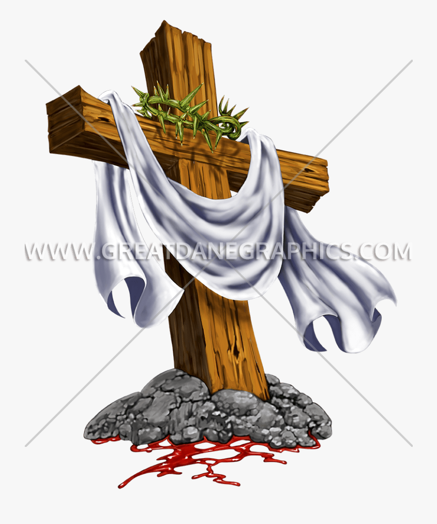 Crown Of Thorns Cross Clipart Clip Free Library Cross - Cross With Thorns, Transparent Clipart