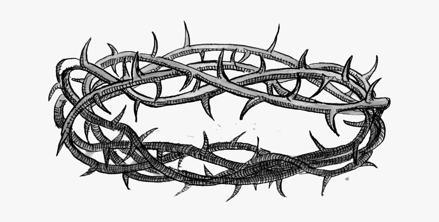 Thorns Crown Png Image - Drawn Crown Of Thorns, Transparent Clipart