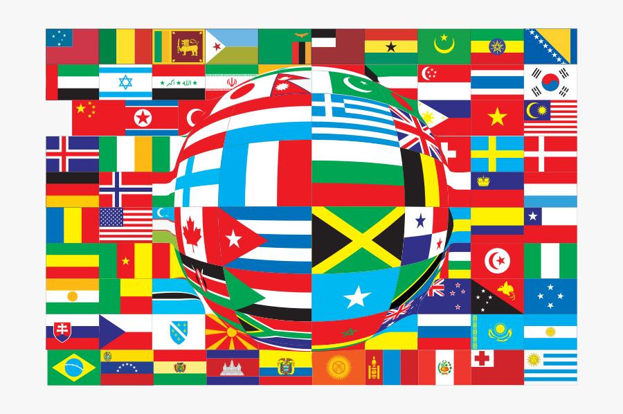 World Flags Distorted - Un Flag Background, Transparent Clipart