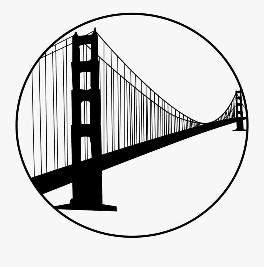 Golden Gate Bridge, Transparent Clipart