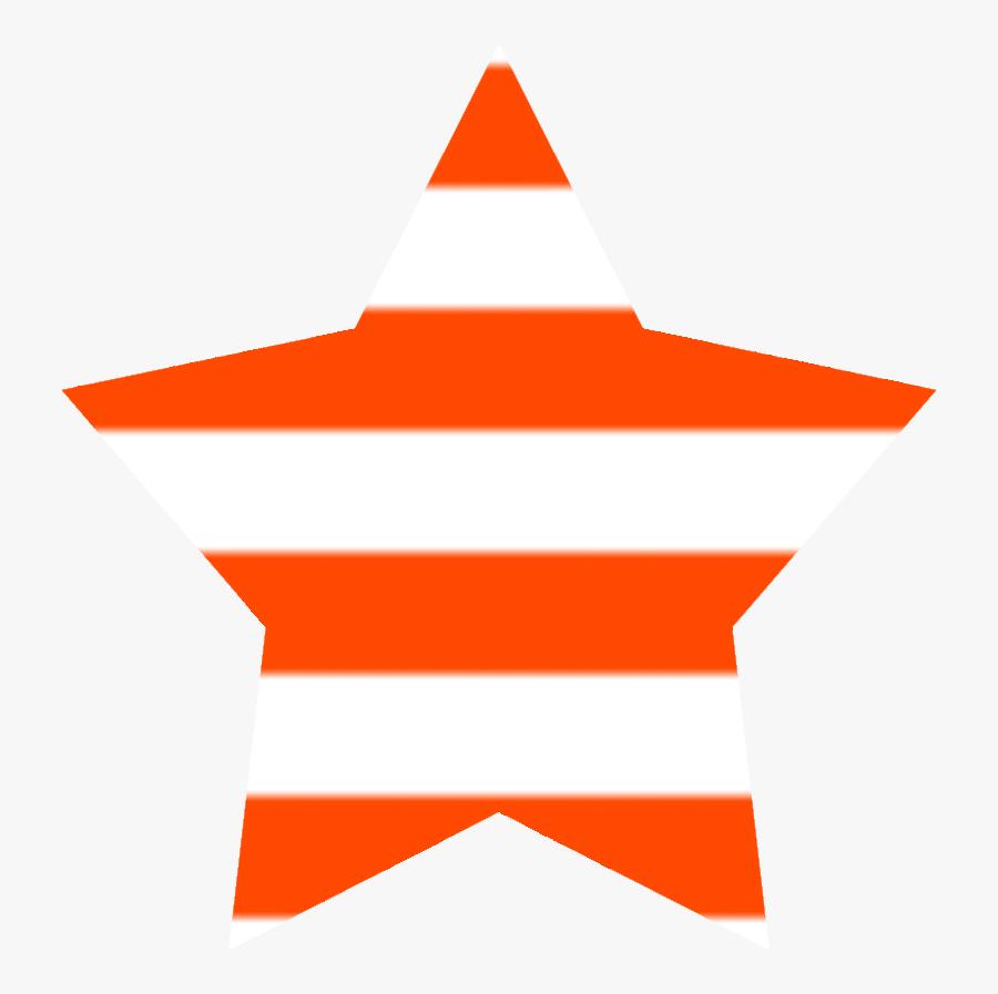 Orange Star Clipart - Sign, Transparent Clipart