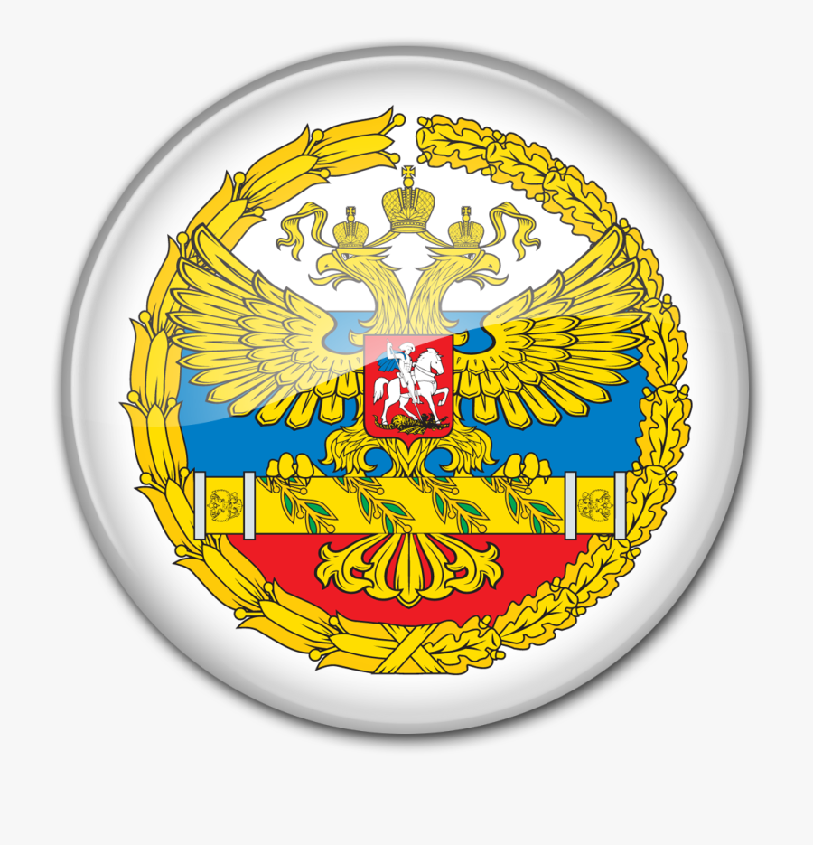 Round Glass Emblem Of The Supreme Commander Of The - Russian President Seal, Transparent Clipart