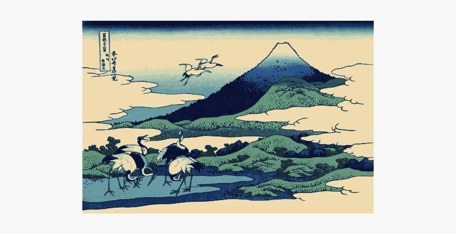 Umezawa March In Segami Province Color Clip Art - Famous Arts In Japan, Transparent Clipart