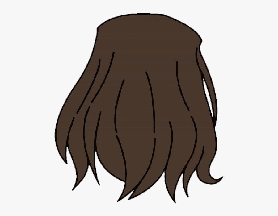 Gacha Life Back Hair, Transparent Clipart