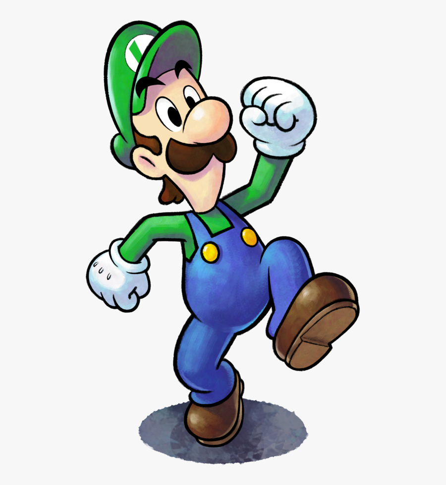 Mario And Luigi Paper Jam Luigi, Transparent Clipart