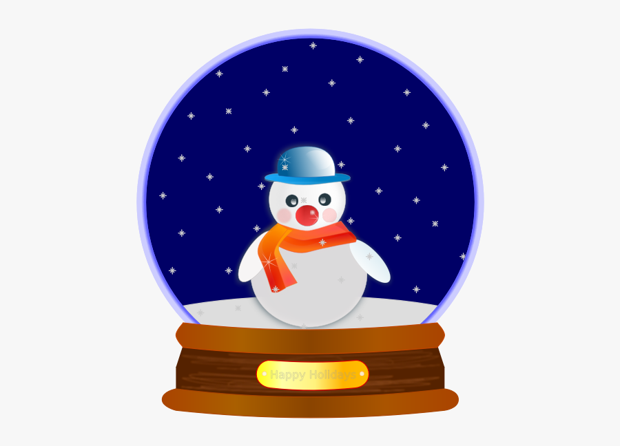 Animated Snow Globe Snowman - Snowman Snow Globe Clip Art, Transparent Clipart