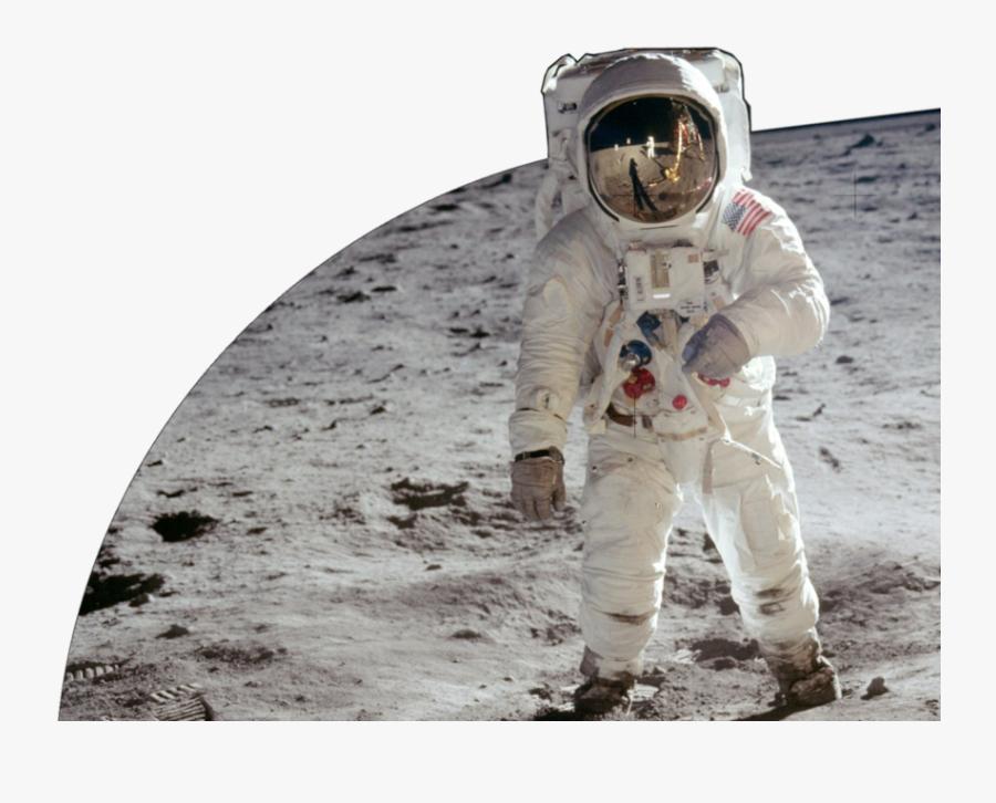 Astronaut Transparent Png Moon - Moon Landing No Background, Transparent Clipart