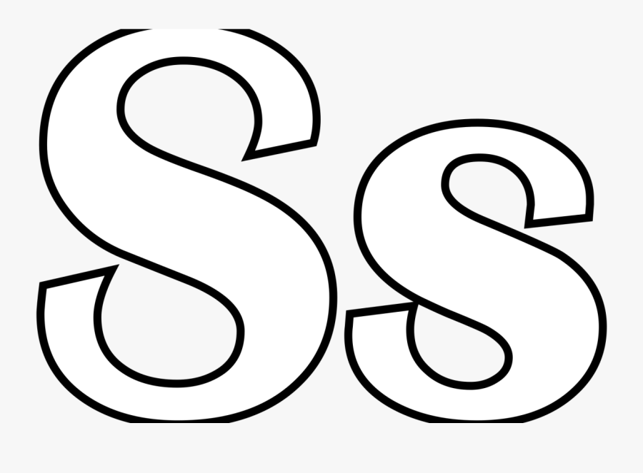Coloring Pages For The Letter S Preschoolers Pictures - Line Art, Transparent Clipart