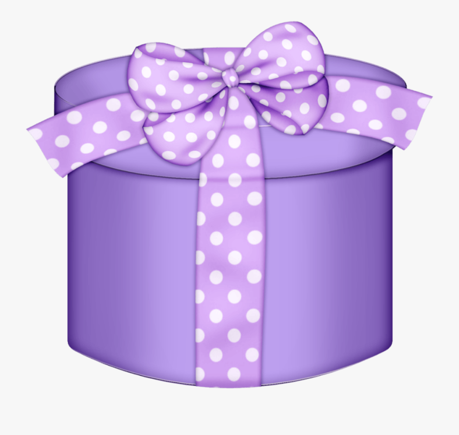Purple Gift Box Clipart - Gift Transparent Background Gif, Transparent Clipart