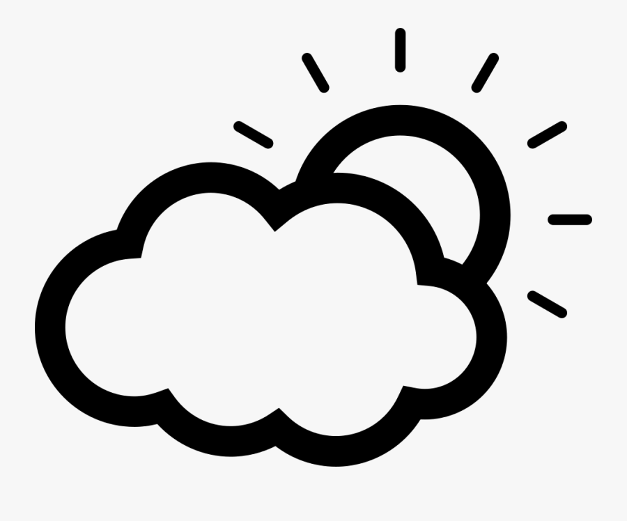 Sun Partially Covered By A Cloud Comments Clipart , - Sun Cloud Icon Png, Transparent Clipart