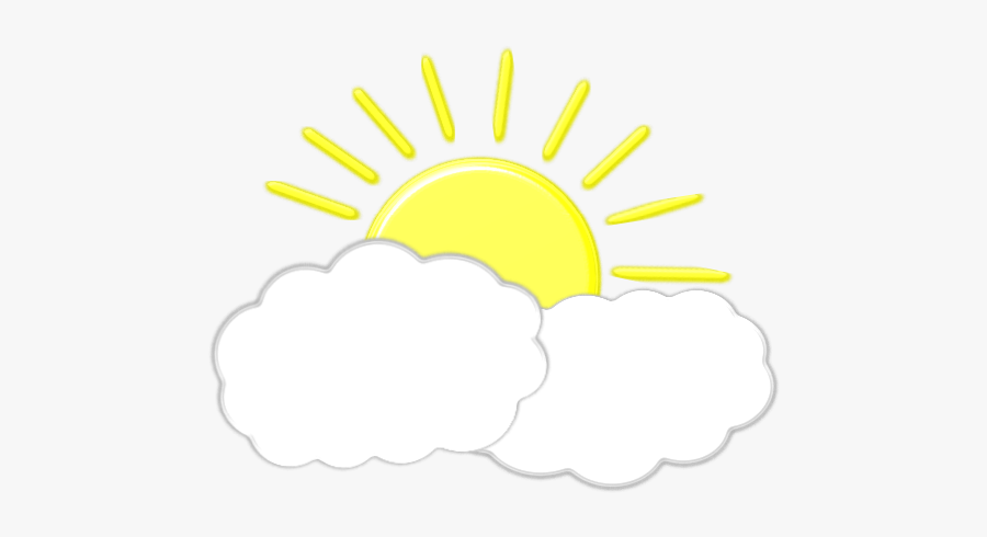 Sun Behind Clouds - Clothing, Transparent Clipart