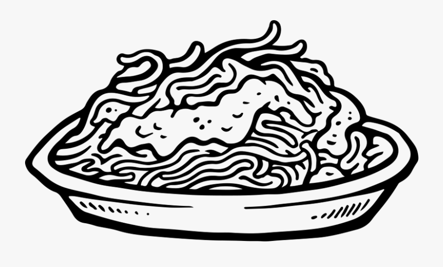 Transparent Kid Eating Breakfast Clipart - Pasta Drawing, Transparent Clipart