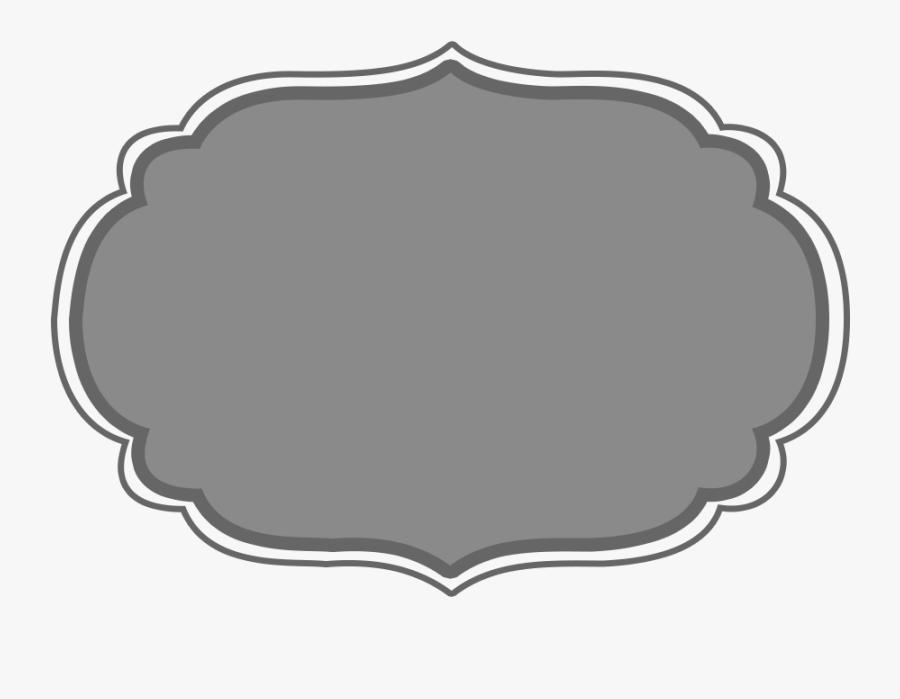 Transparent Silver Frame Clipart - Gray Label Clip Art, Transparent Clipart
