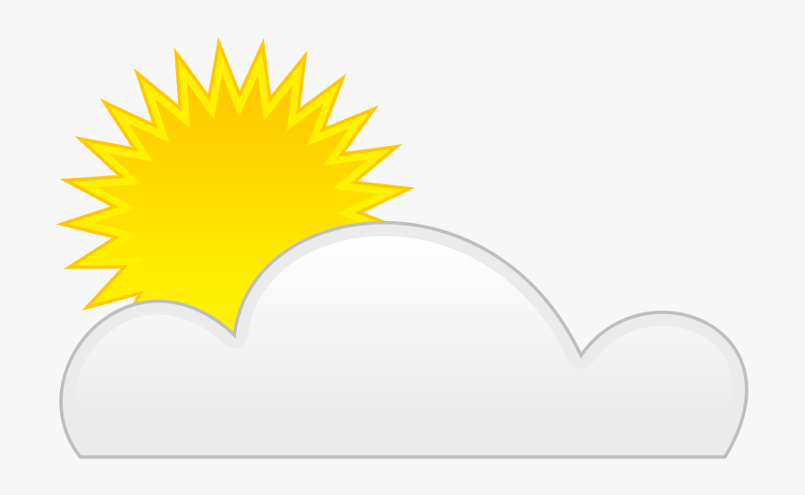 Sun Cloud - Partly Cloudy Animated Gif, Transparent Clipart