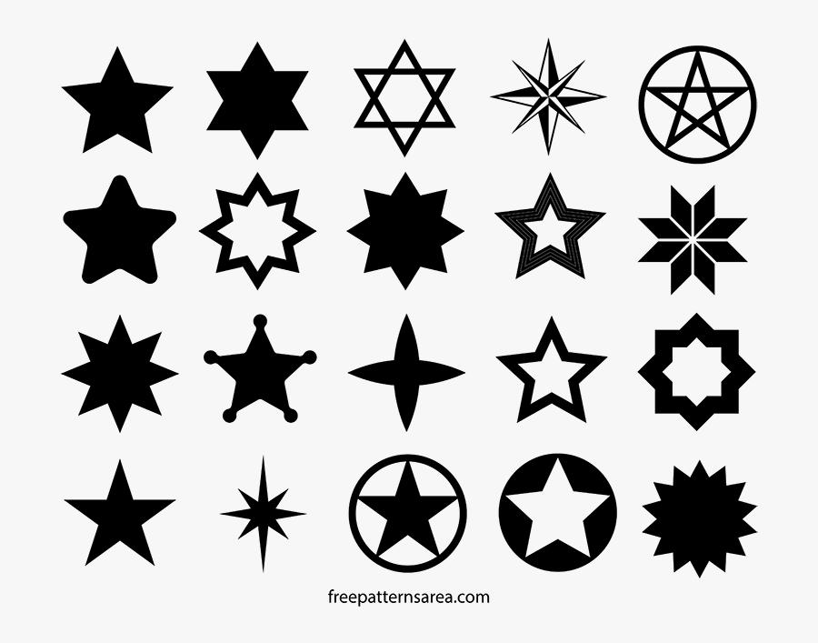 Star Shape - Star Shape Star Silhouette, Transparent Clipart