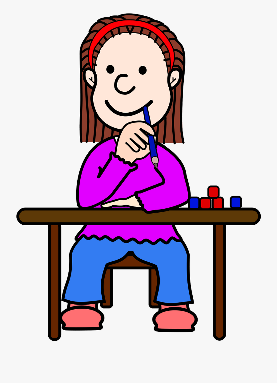 Student Thinking Png Clipart, Transparent Clipart