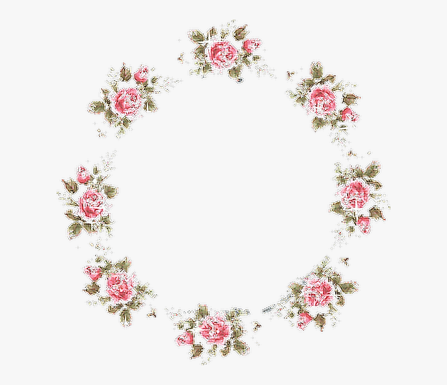 Frame Roses Flowers Tumblr - Png Tumblr Aesthetic Flowers Png, Transparent Clipart