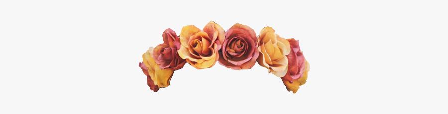 Crown Transparent Tumblr - Orange Flower Crown Png, Transparent Clipart