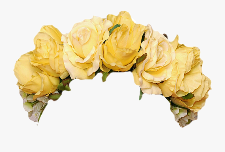 Transparent Flower Crown Png Tumblr - Yellow Flower Crown Png, Transparent Clipart