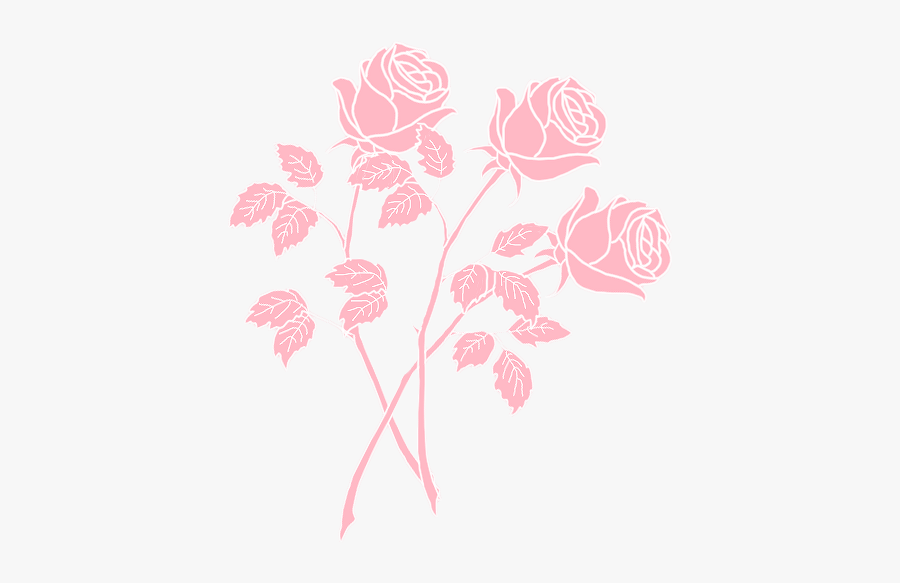 Flower Png Tumblr - Pastel Pink Aesthetic Png, Transparent Clipart