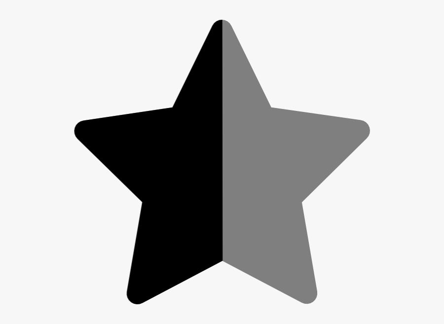 Star Bkacj And Grey Svg Clip Arts - Hviezda Z Papiera, Transparent Clipart