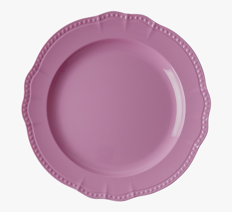 Transparent Breakfast Plate Clipart - Melamine Dinner Plate New Look Dark Pink Rice, Transparent Clipart