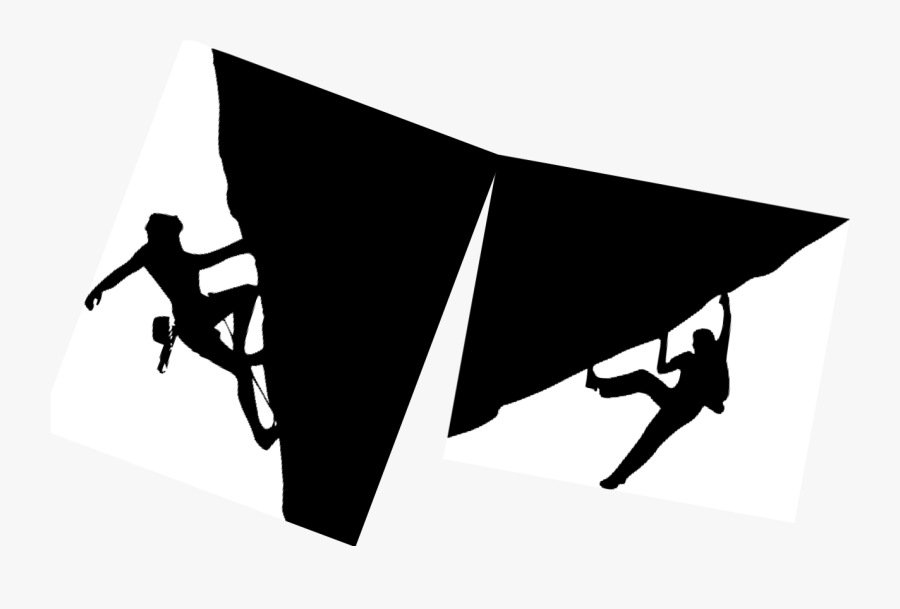 The Rock Climb - Silhouette, Transparent Clipart