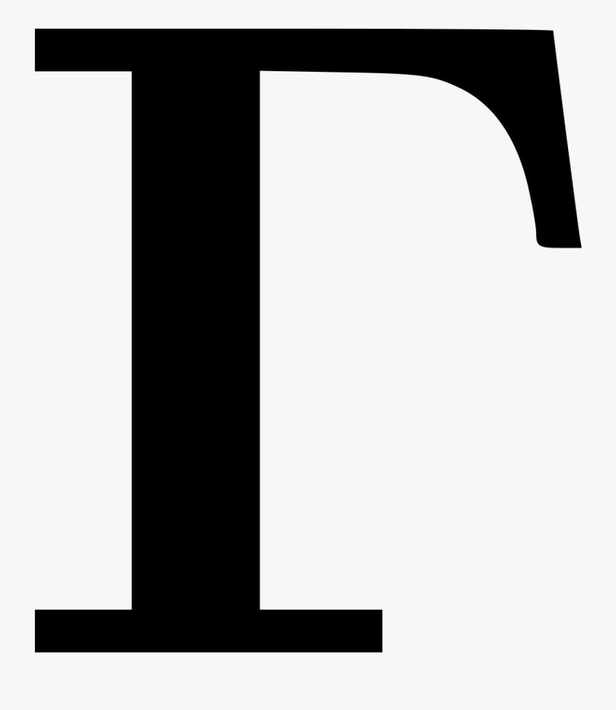 Cyrillic Letter Г, Transparent Clipart