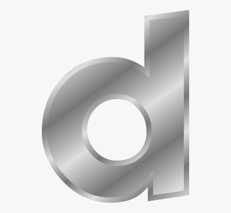 Free Clip Art Letters Alphabet Vector Alphabet Lettering - Silver Letter D Png, Transparent Clipart