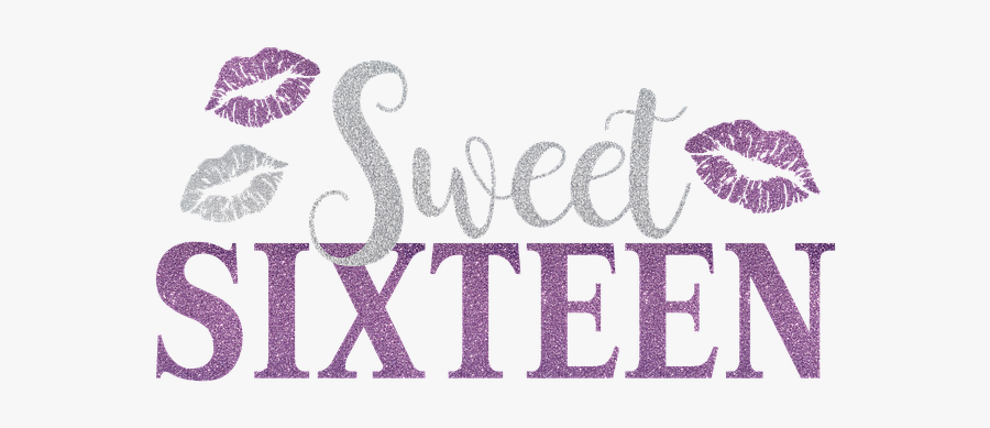 Sweet 16 Purple, Transparent Clipart