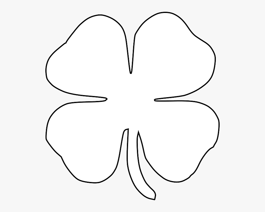 Free St Patricks Day Printables - White Four Leaf Clover Png, Transparent Clipart