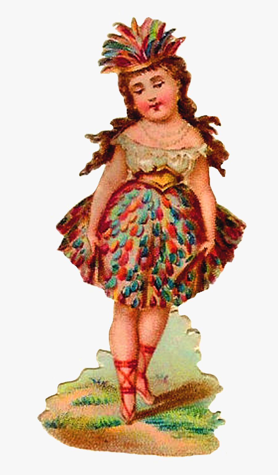 Transparent Victorian Women Clipart - Illustration, Transparent Clipart