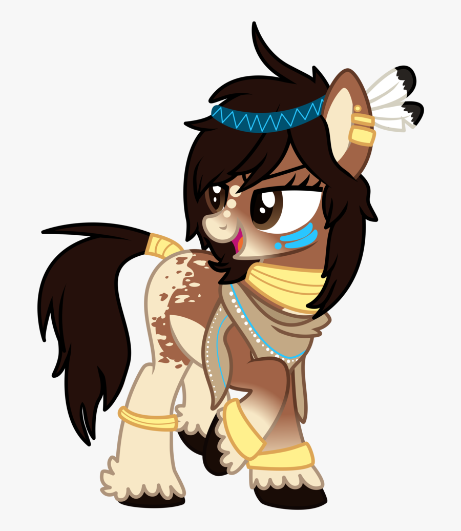 Transparent Native American Woman Clipart - My Little Pony Native American, Transparent Clipart