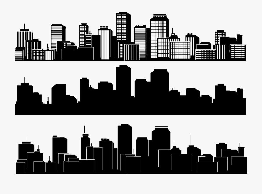 City Silhouette Skyline Building - City Vector Silhouette, Transparent Clipart