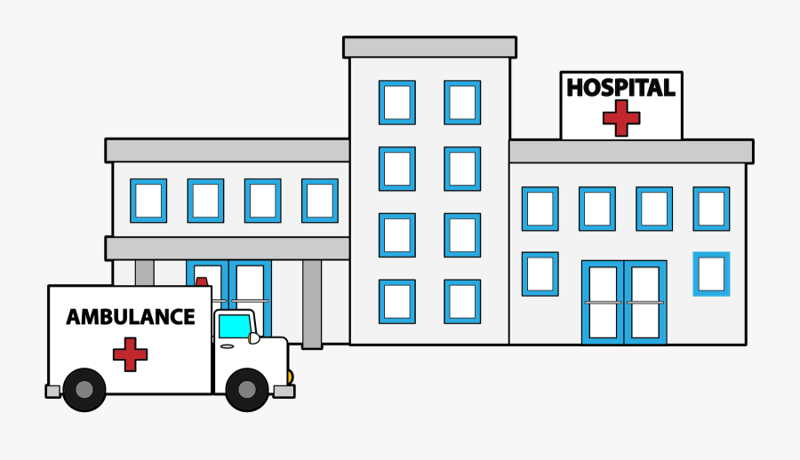 Hospital Building Clipart Black And White - Hospital Clipart, Transparent Clipart