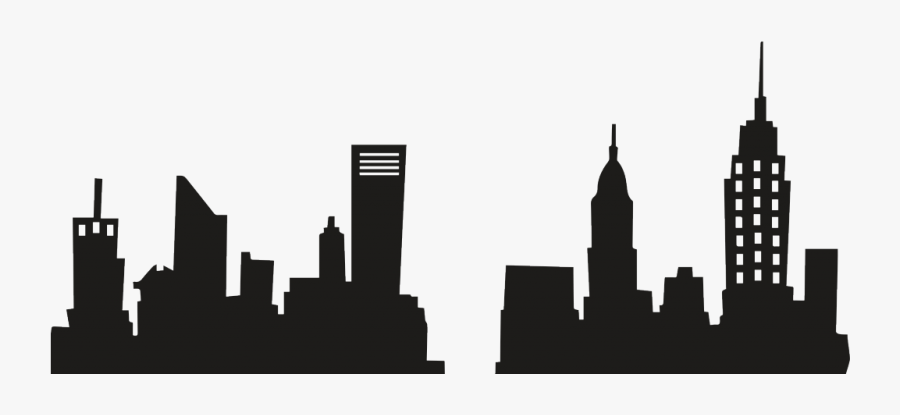 T Shirt New York City Skyline Decal Building - New York Buildings Silhouette, Transparent Clipart