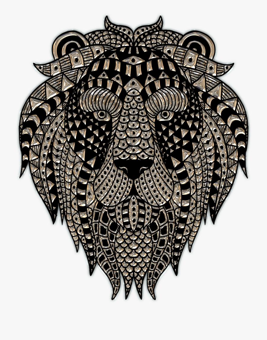 Lion Head Plastic Art - Crps Posters, Transparent Clipart