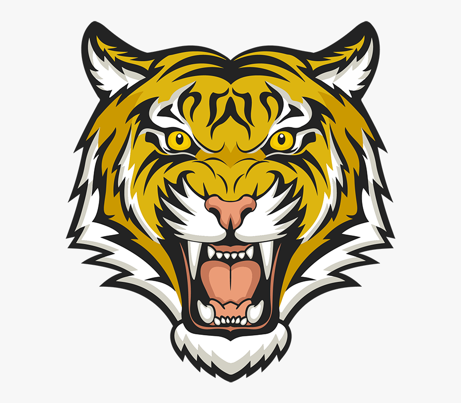 Tiger Head Clipart , Png Download - Tiger Face Drawing Colour, Transparent Clipart