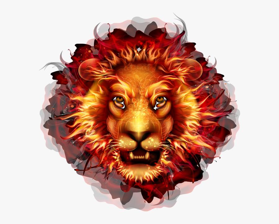Transparent Lions Head Clipart - Fire Lion, Transparent Clipart