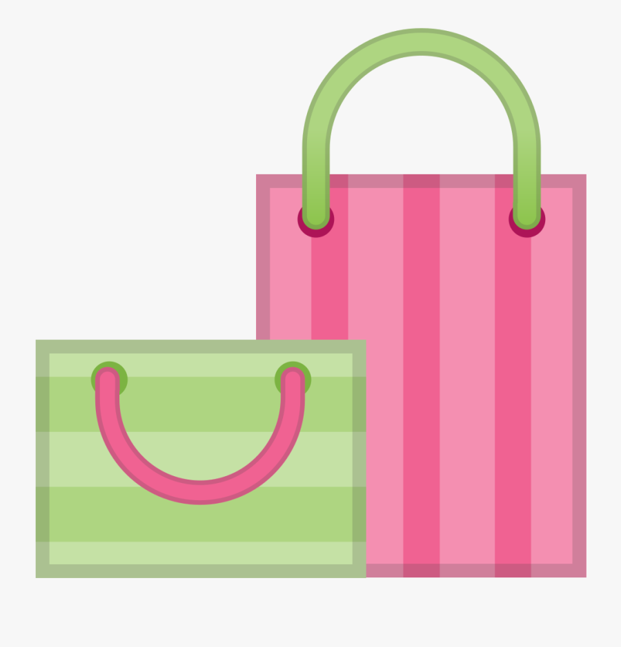 Handbag - Pink Shopping Bag Icon Png, Transparent Clipart